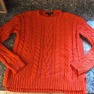 Lauren Ralph Lauren Cable Sweater- Orange